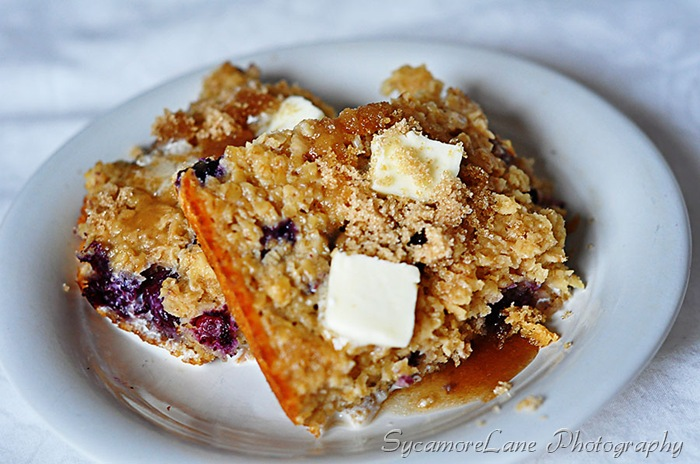 Blueberry Baked Oatmeal-w