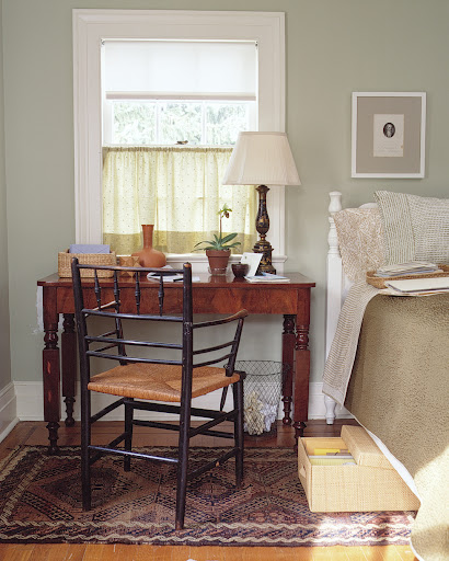 If you don't have a great deal of room, set up a home office in your bedroom, using under-the-bed space as a place to story files and supplies.