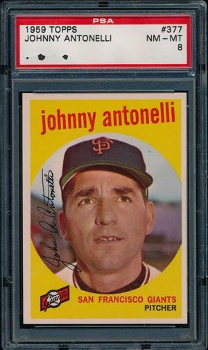 1959 Topps 377 Johnny Antonelli