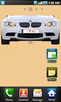 Screenshot of BMW M3 battery widget