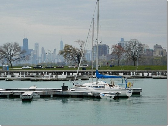 Montrose Harbor skyline