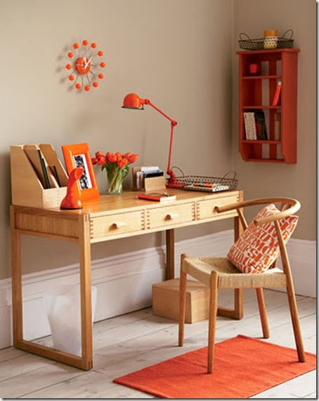Simple-Home-Office-With-Orange-Accents-at-Awesome-Colorful-Home-Office-Design-Ideas