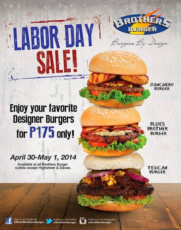 Brothers Burger Labor Day Sale