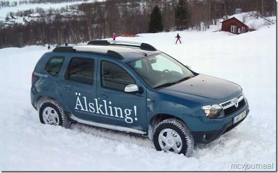 Dacia Duster in de winter 05