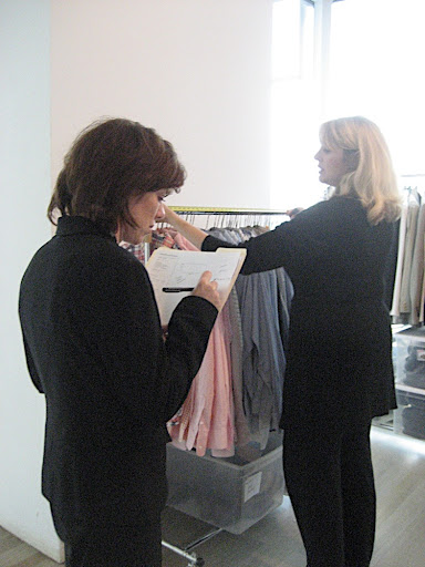 She and Danielle (yet another designer) take full inventory.