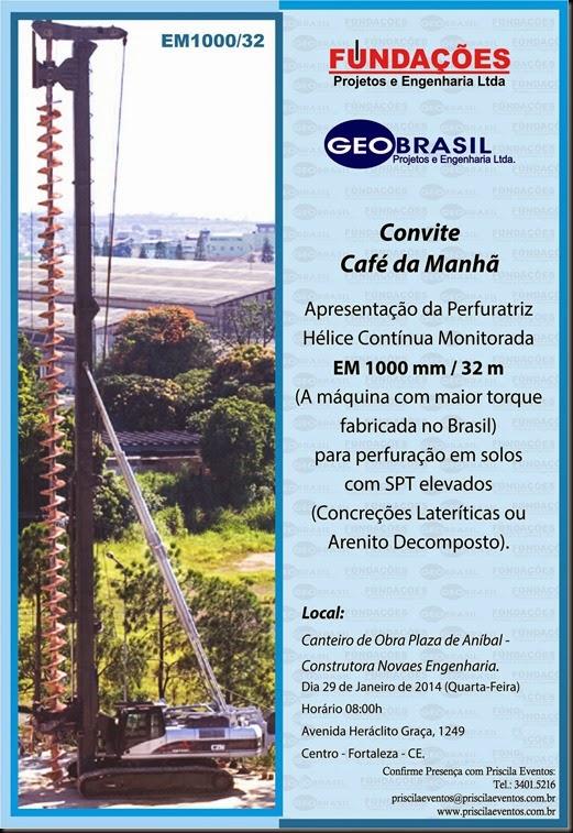 Geo Brasil - Convite Cafe da Manha