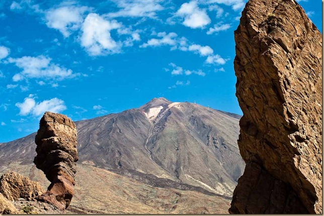 Mount Teide and standing stones