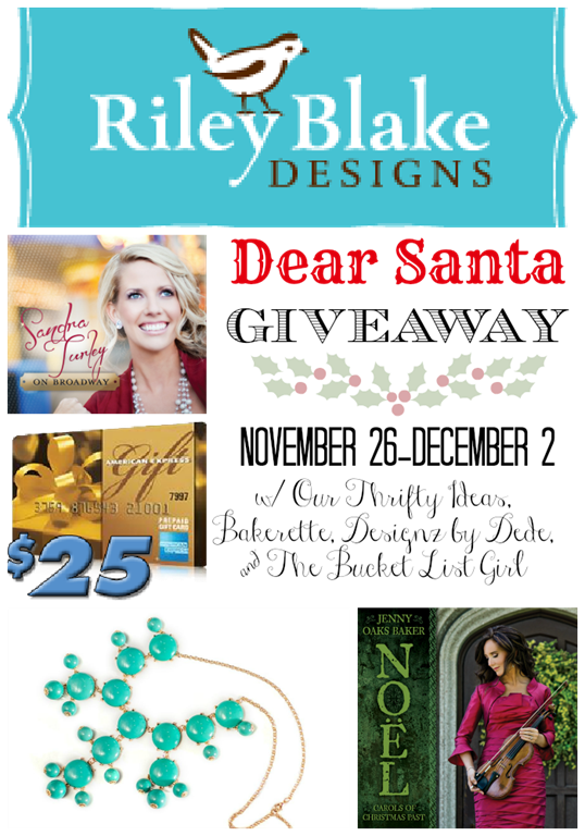 Dear Santa Giveaway poster