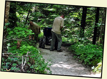 18 - Back on Battleship Rock Trail - Trail Crew working