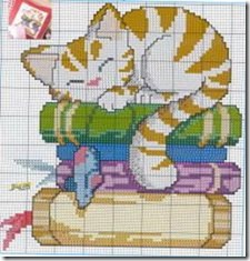 gatos-esquemas-ponto-cruz-motivos-cats-cross stitch-109
