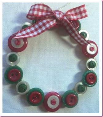 Button Wreath Christmas decoration.