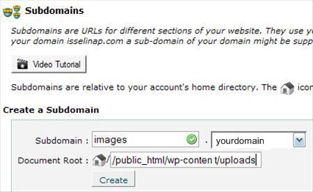 how to use subdomains with wordpress