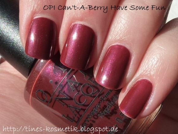 OPI Cant-A-Berry Have Some Fun 2