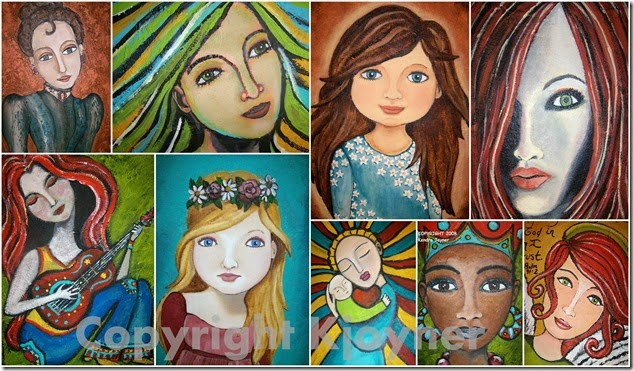 Folk Women Art By KJoyner
