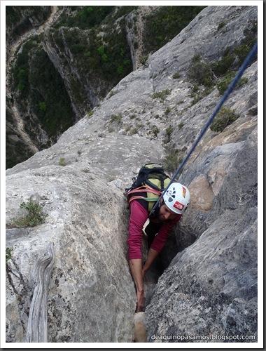 Via Gali-Molero 500m 6b  Ae (V  A1 Oblig) (Roca Regina, Terradets) (Victor) 0096