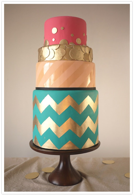 100layercake chevron-wedding-cake