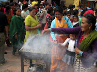 Celebration at Bodhnath Stupa - Kathmandu Valley