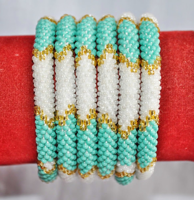Turquoise White & Golden Series