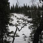 Курумник, занесённый снегом.