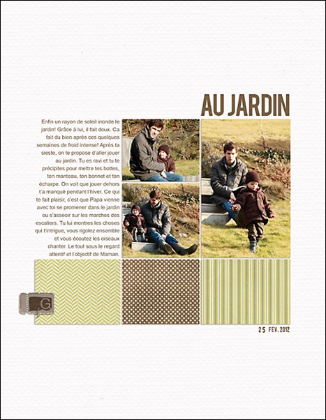 album de Guillaume page au jardin