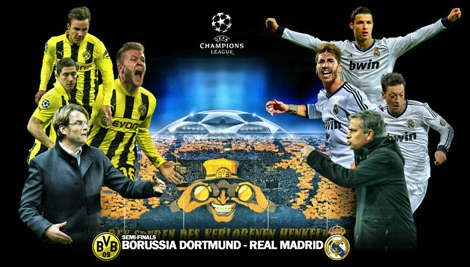 Dortmund vs Real Madrid, Semifinal Liga Champions Kamis 25 April 2013