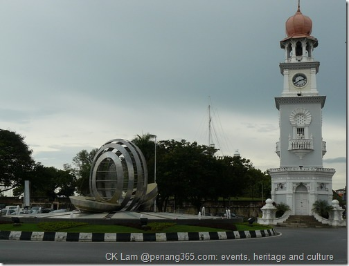 Clock tower at Beach Street at www.penang365.com