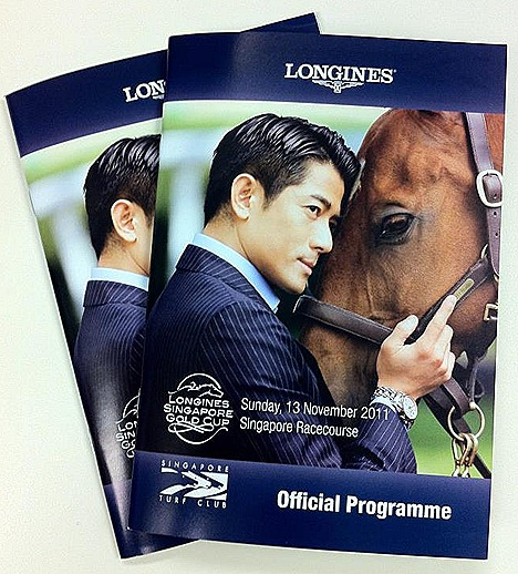 LONGINES SINGAPORE GOLD CUP 2011 WITH AARON KWOK AT SINGAPORE TURF CLUB