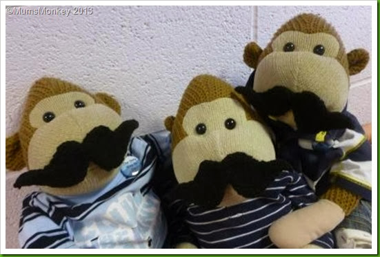 2013 Movember knitted moustaches