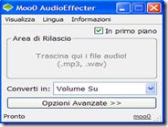 Alzare o abbassare volume MP3, bassi, medi, acuti, voce e tono con Moo0 AudioEffecter