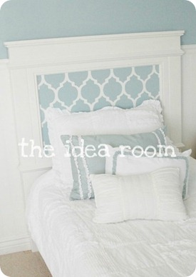 stenciled bed tutorial