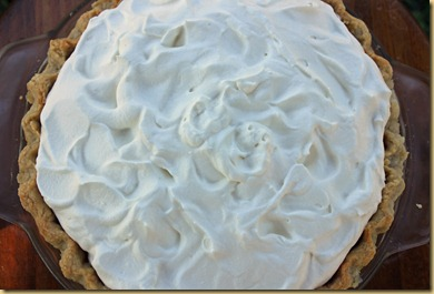 Strawberry Pie topped with whipped cream