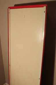 red ABS molded plastic panel designed by Giorgio De Ferrari for Elco I