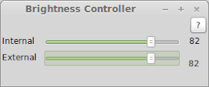 Brightness Controller in Linux Mint