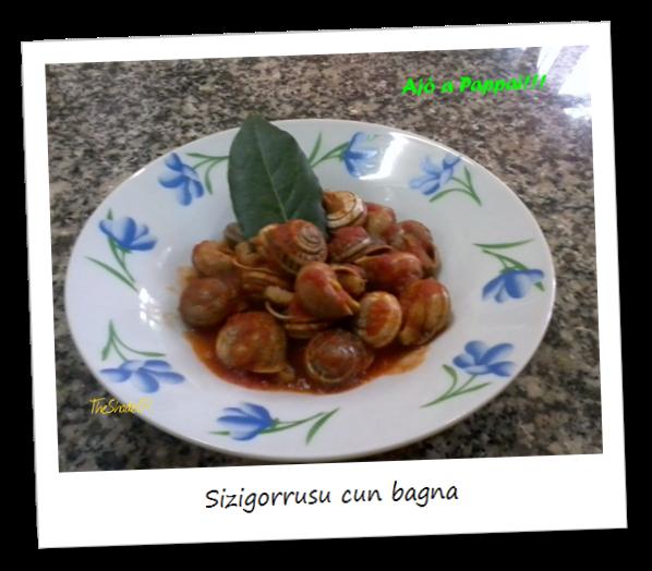 Fotografia del piatto sizigorrusu cun bagna