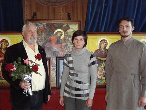 Виставка картин художника Володимира Жупанюка в селі Вишнів