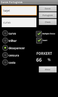 Danish Portuguese Dictionary - screenshot