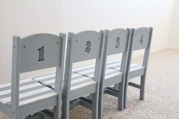 numbered chairs