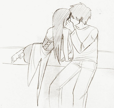 The Kiss, dibujo de Cute-Neko