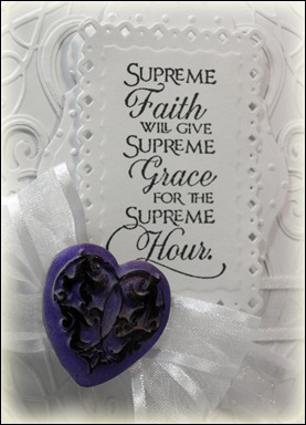 Our Daily Bread designs, Flower Soft, Elegant Hearts Mold, Quote Collection 3, Spellbinders