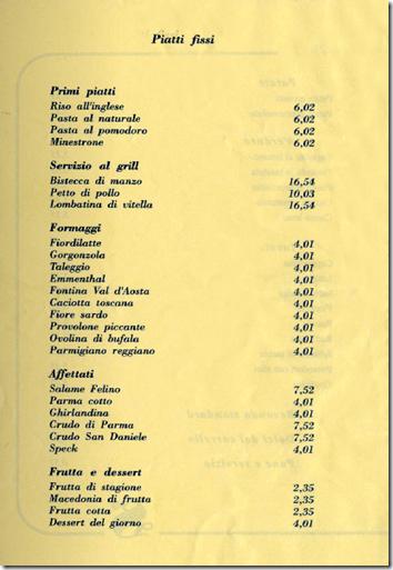 Il nuovo menù del ristorante del Senato