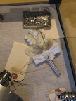Mens accessories include this fun box for valuables and a fabric boutonniere