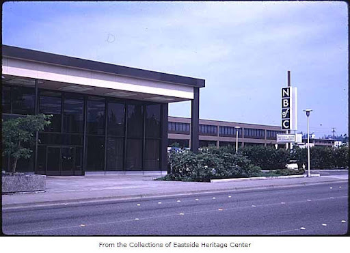 National Bank of Commerce, 1969 - Bellevue WA.  Eastside Heritage Center Image 1998.25.32, used by permission. http://content.lib.washington.edu/u?/imlseastside,724