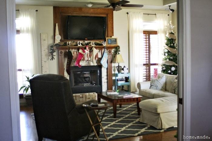living room xmas