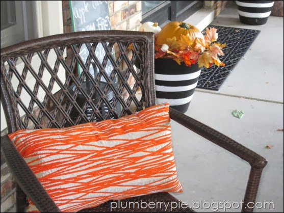 {plumberry pie} fall porch update
