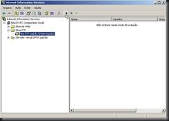 Windows XP : Ferramentas Administrativas : FTP : Serviço : Iniciar