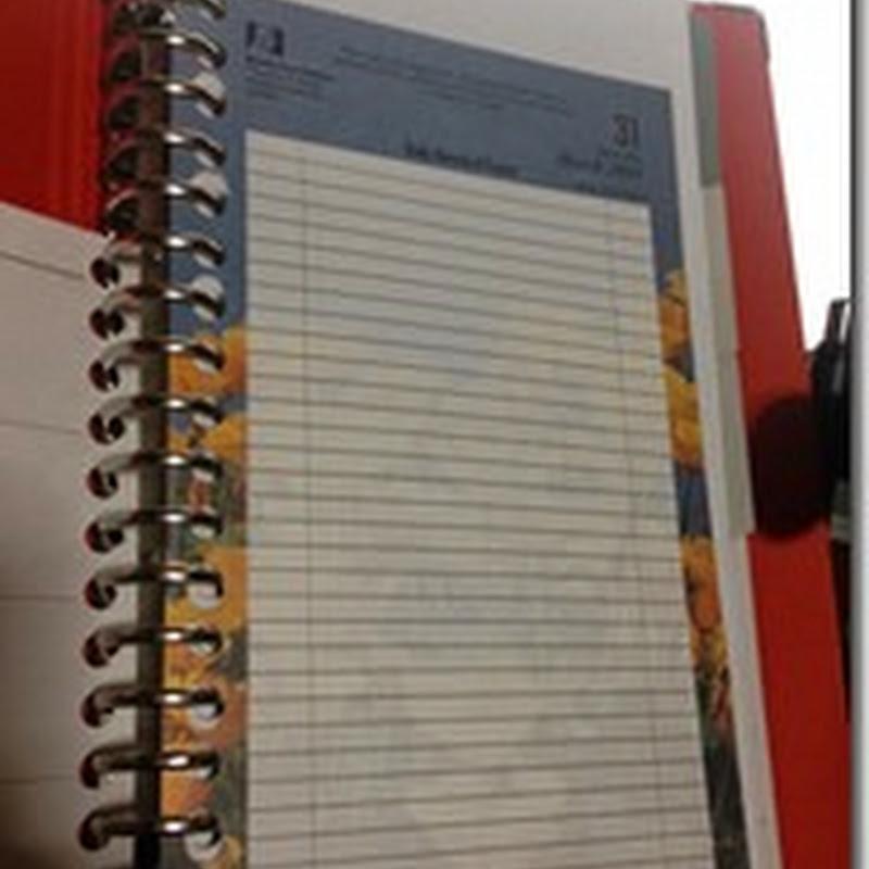 スリムA5ファイルノート puoをスケジュール帳として今日から使います