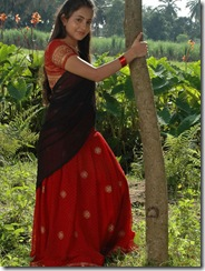 Bhama in half saree