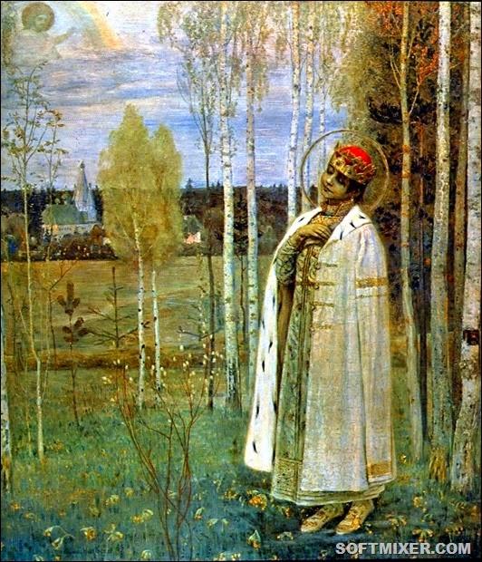 Царевич Дмитрий. Картина М. В. Нестерова, 1899 год