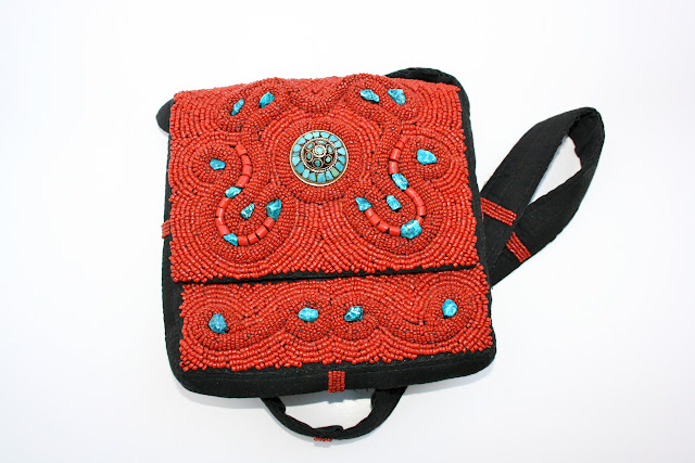 Hand Bag : Hand-beaded Bhutan Handbag