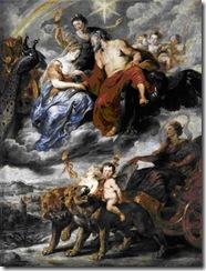 Rubens - Encontro de Maria de Médicis com Henrique IV em Lyon